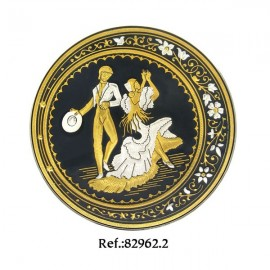 Damascene Flamenco Dancers Collectible Dish