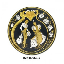 Damascene Flaminco Dancers Collectible Dish