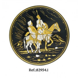 Damascene Knight and Squire Collectible Dish