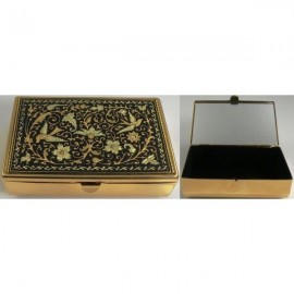 Damascene Gold Bird Jewelry Box