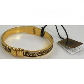 Damascene Gold Geometric Bracelet Oval Style 8005