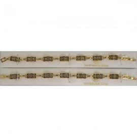 Damascene Gold Geometric Bracelet Rectangle Style 2004