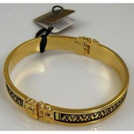 Damascene Gold Geometric Bracelet style 2089