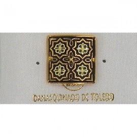 Damascene Gold Star Round Pin 2519