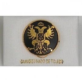 Damascene Gold Toledo Coat of Arms Round Pin 2520