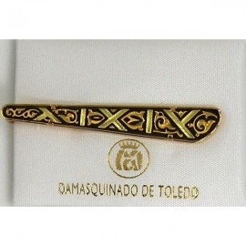 Damascene Gold Mens Tie Bar Stripe 2601