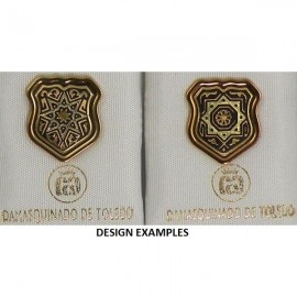 Damascene Gold Star Shield Pin