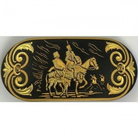 Damascene Gold Don Quixote Hair Barrette