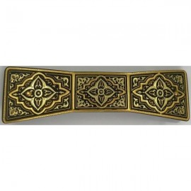 Damascene Gold Geometric Bowtie Hair Barrette