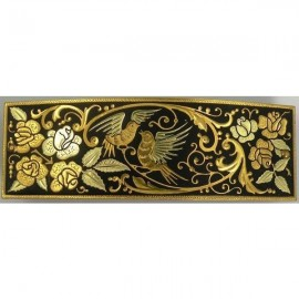 Damascene Gold Bird Hair Barrette style 2346