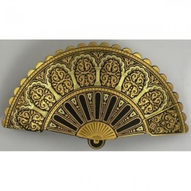 Damascene Gold Geometric Fan Hair Barrette style 2344