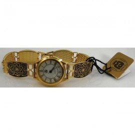 Damascene Gold Watch 3503-Star