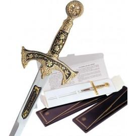 Damascene Templar Sword Letter Opener 5503-2