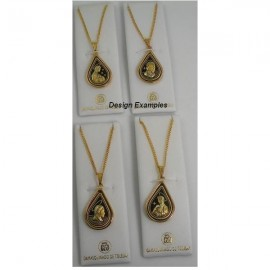 Damascene Gold Virgin Mary Pendant style 4214