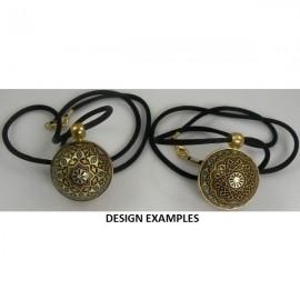 Damascene Gold Geometric Angel Pendant