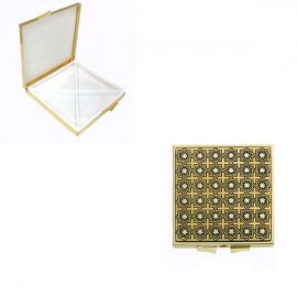 Damascene Gold Star Square Pill Box style 8501.2