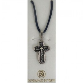 Damascene Silver Cross Chalice Pendant style 9237