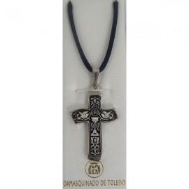 Damascene Silver Cross Dove Pendant style 9232
