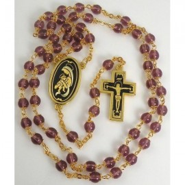 Damascene Gold Jesus Communion Rosary