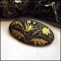Damascene Gold Pins