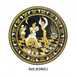 Damascene Moonlight Dancers Collectible Dish