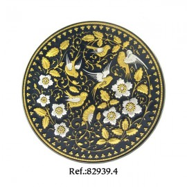 Damascene Swallows Migration Collectible Dish