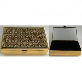 Damascene Gold Geometric Jewelry Box