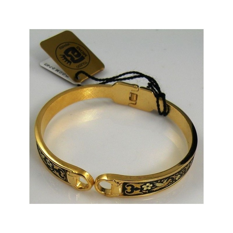 Gold Bird Bangle Bracelet Oval