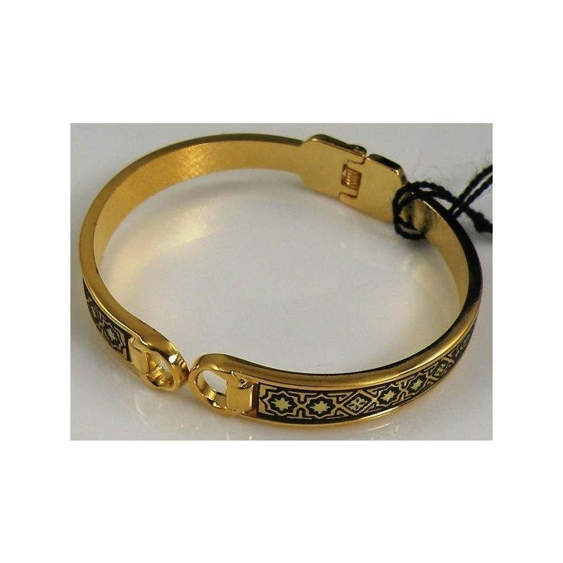 bangles bangle with sterling cubic p ct yellow tw plated bracelet gold in silver oval zirconia