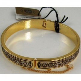 Damascene Gold Star of David Bangle Bracelet style 2017