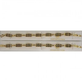 Damascene Gold Geometric Bracelet Rectangle Style 2004