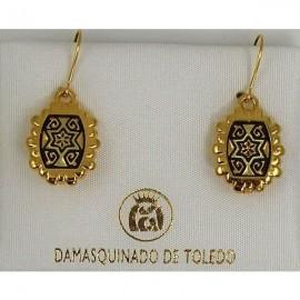 Damascene Golden Earrings (4) - Damascene Jewelry Store