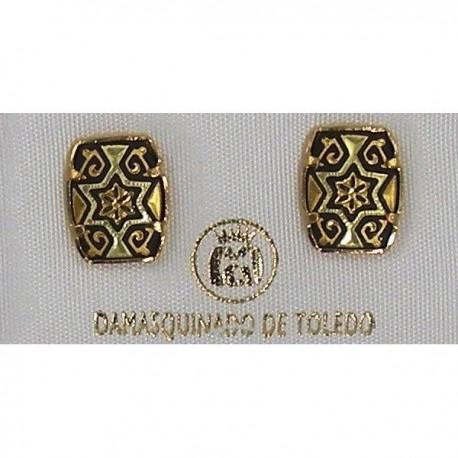 Damascene Gold Star of David Earrings Style 3115