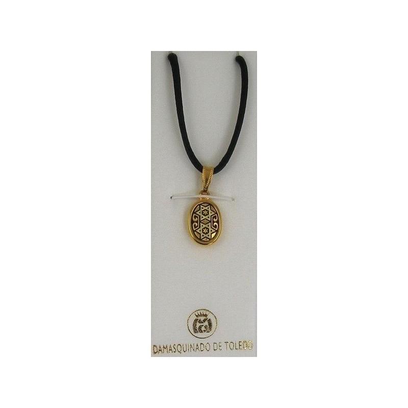 Damascene gold star of david pendant 8212 aloadofball Images