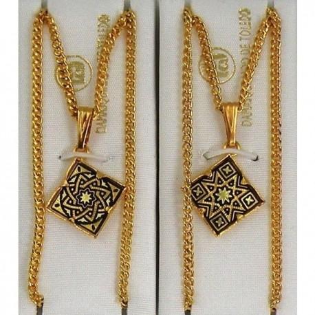 Damascene Gold Star Diamond Pendant 2281