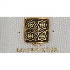 Damascene Gold Star Round Pin 2519