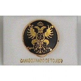 Damascene Gold Toledo Coat of Arms Round Pin 2520