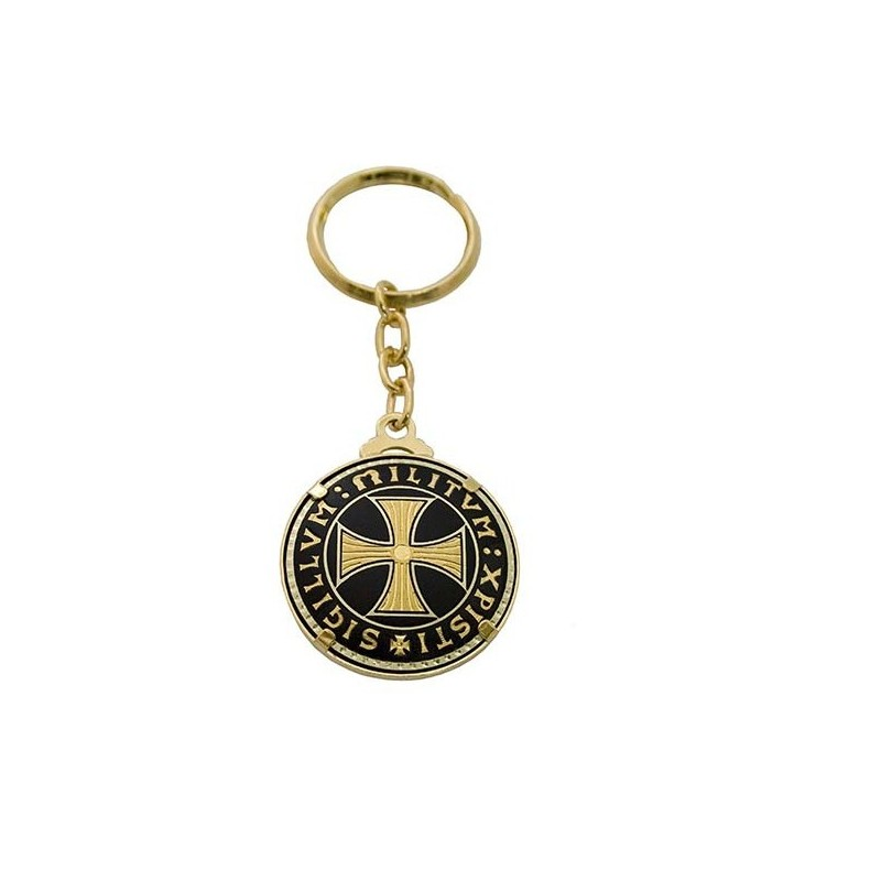 Damascene templar cross keychain single aloadofball Image collections