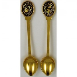 Damascene Gold Bird Decorative Spoon 8583