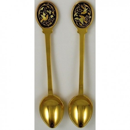 Damascene Gold Bird Decorative Spoon 8583