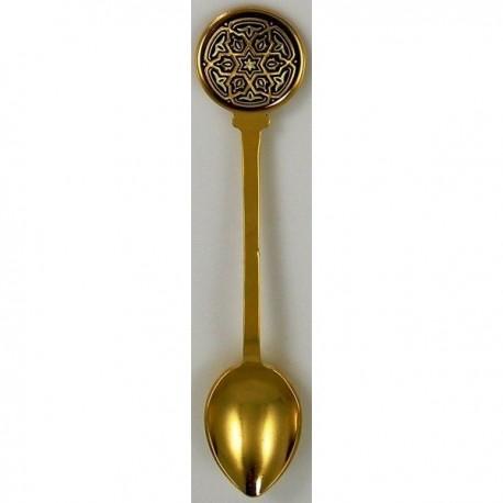 Damascene Gold David Star Decorative Spoon 8580