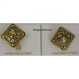Damascene Gold Bird Diamond Brooch style 2232
