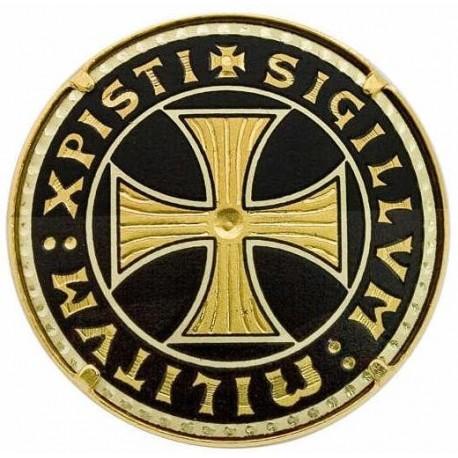 Damascene Templar Cross Brooch