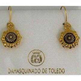 Damascene Golden Earrings (13) - Damascene Jewelry Store