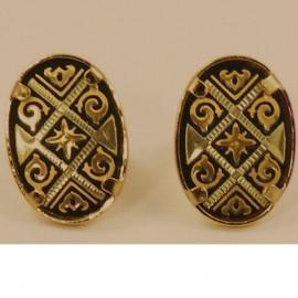 Damascene Golden Earrings (12) - Damascene Jewelry Store