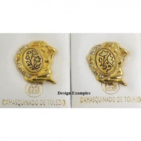 Damascene Gold Virgo the Virgin Zodiac Pin