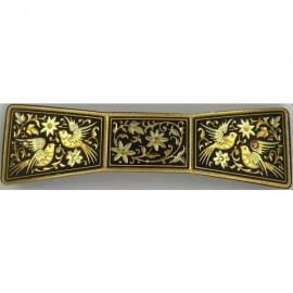 Damascene Gold Bird Bowtie Hair Barrette