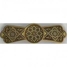 Damascene Gold Geometric Hair Barrette style 2348-B