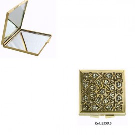 Damascene Gold Magnificent Compact Mirror