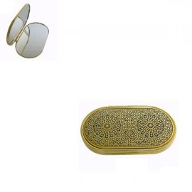 Damascene Gold Detailed Compact Mirror